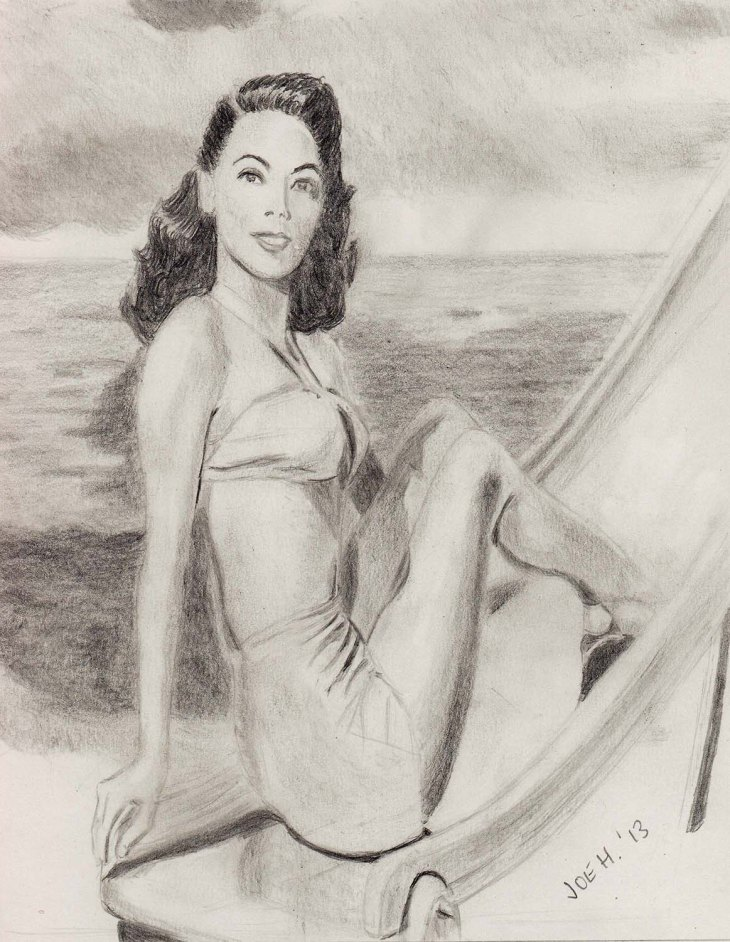 September 2013 - Here's Ava Gardner for you with an image to say goodbye to the last days of summer!