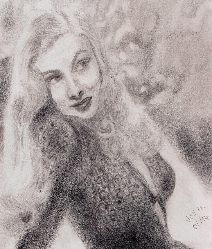 January 2014 - Veronica Lake. At first I wanted to put this into the portraits section, but then I thought it has some atmosphere so it wouldn't look bad in the main gallery.